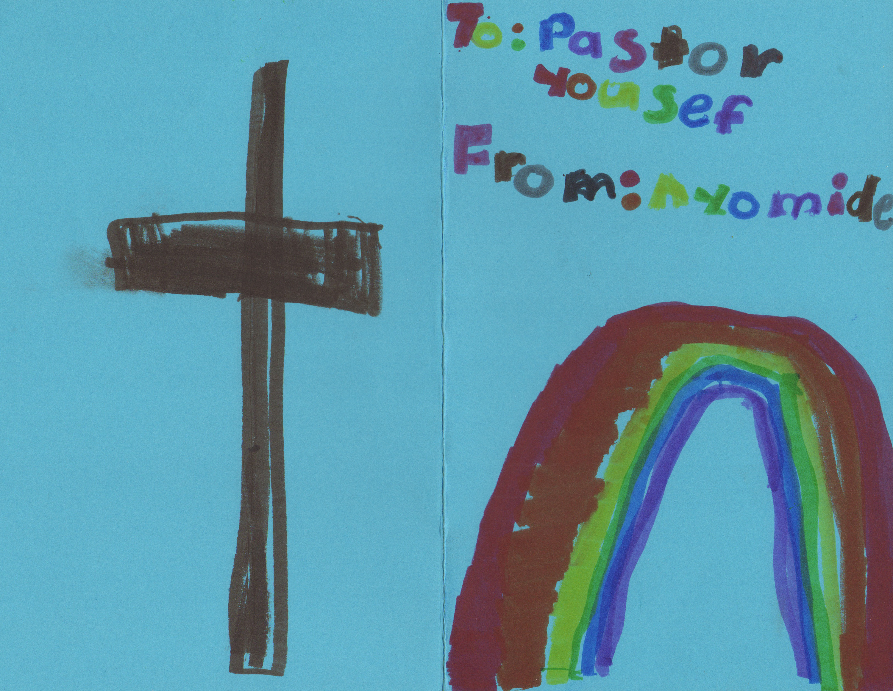 Cross and rainbow for Pastor Youcef Nadarkhani