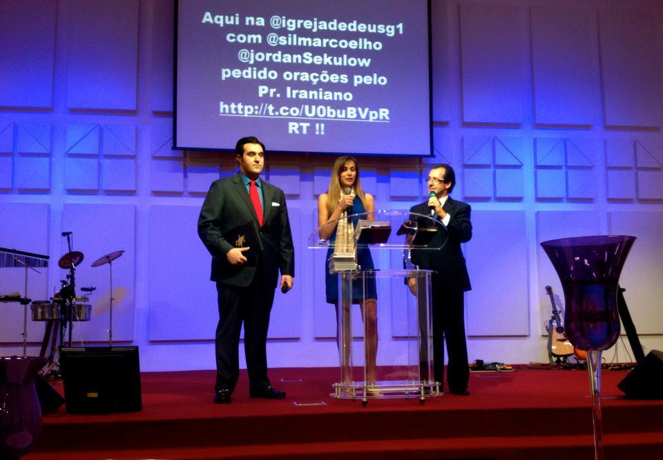 Jordan and Anna Sekulow speaking in Brazil